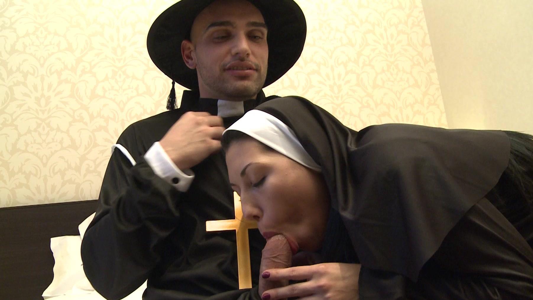 Nuns sucks three cocks