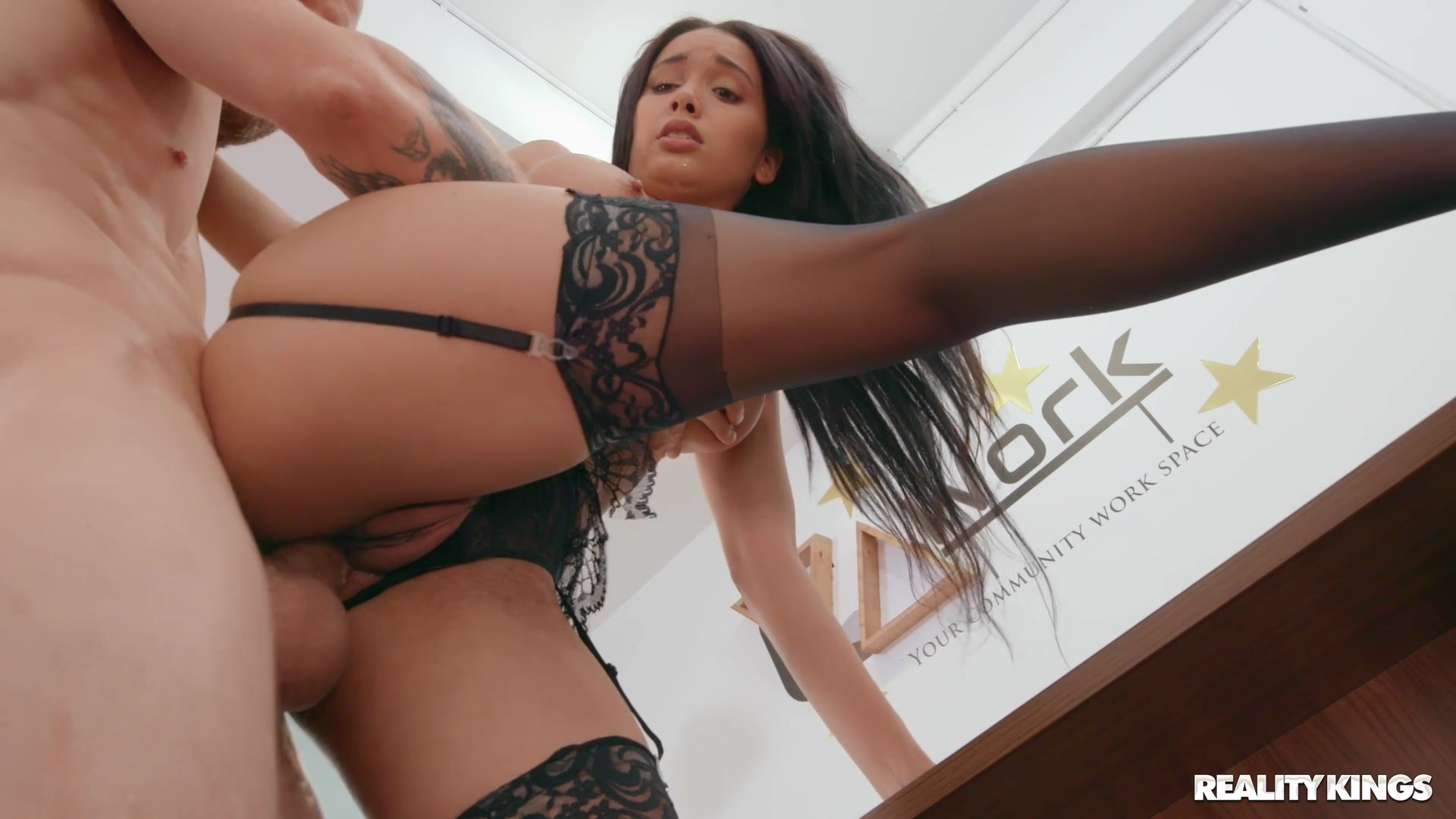 hot german brunette casting pussy play