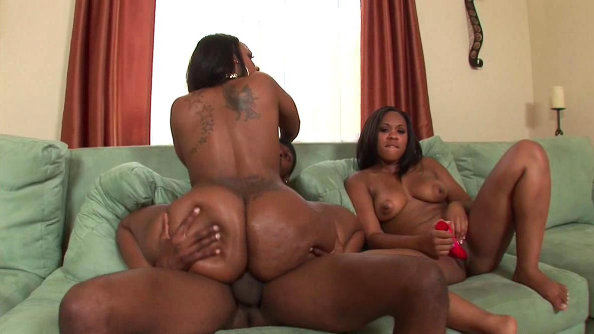 Big Black Cock Ebony Threesome