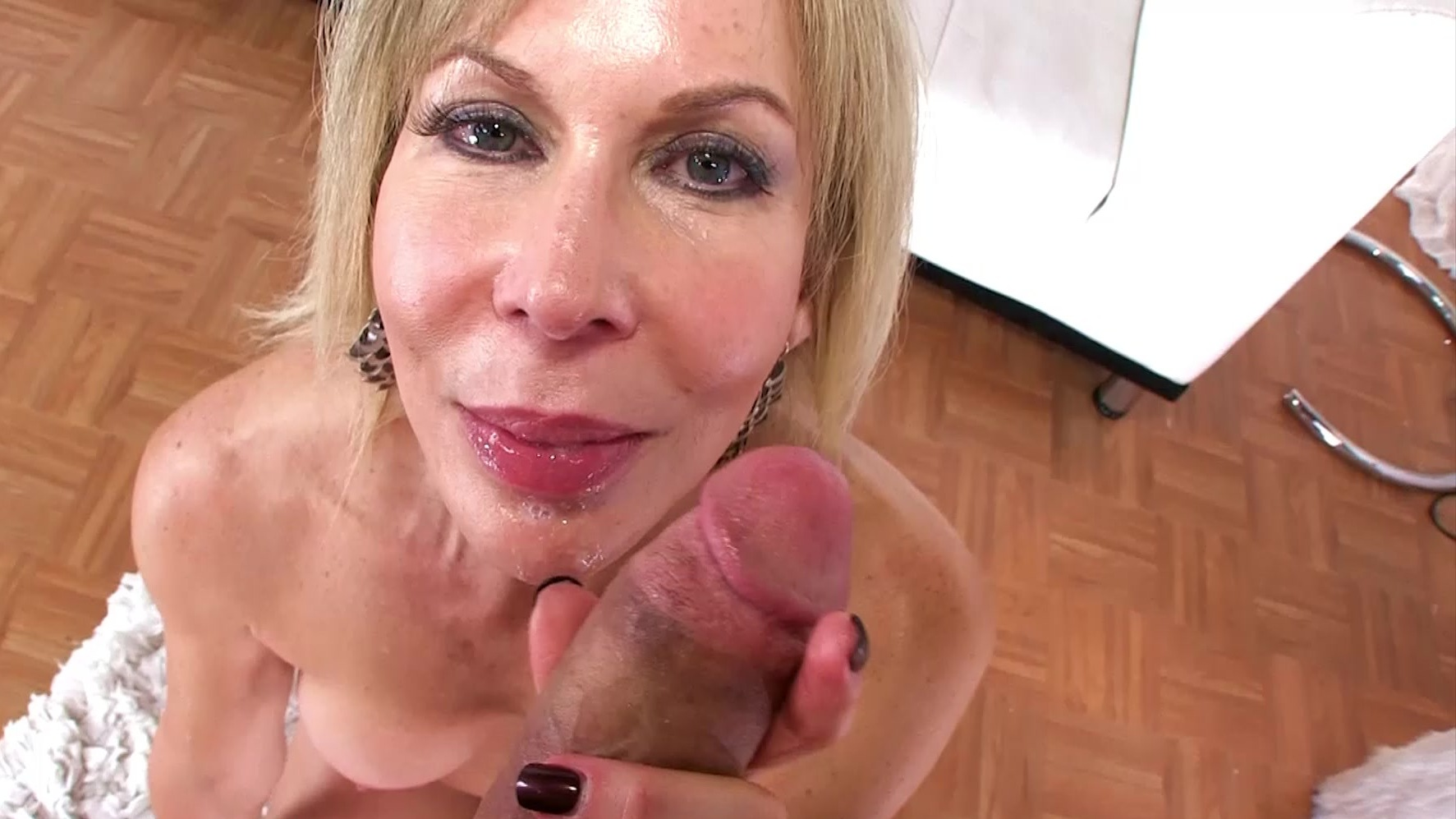 Pov Blonde Cougar Blowjob
