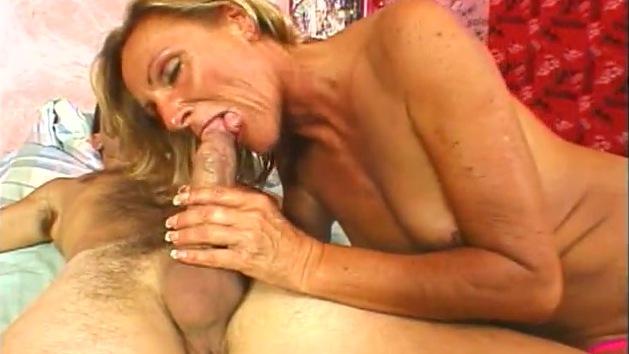 Blonde German MILF enjoys first anal&comma