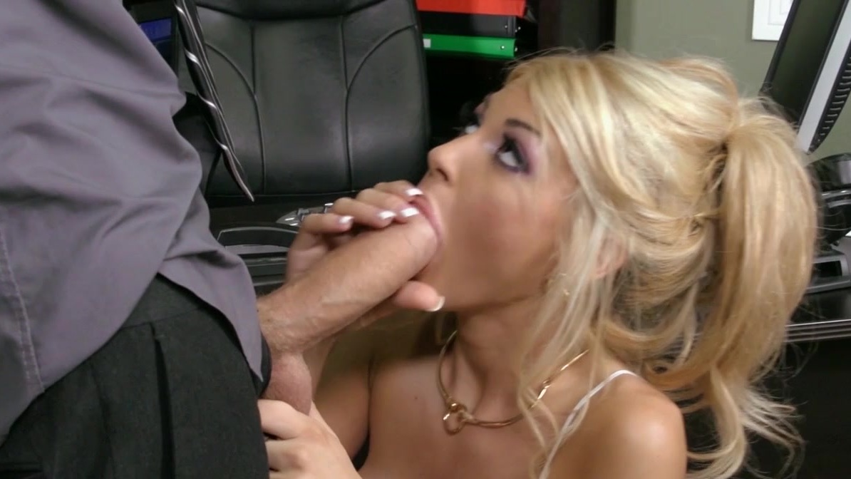Blond office slut